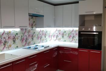 Кухня МДФ-ПВХ цвет Бордо