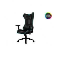 Кресло компьютерное ThunderX3 UC5-BC [black-cyan], с подсветкой 7 цветов