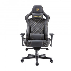 Кресло компьютерное TESORO Zone X F750-BK [black-gold stitch]