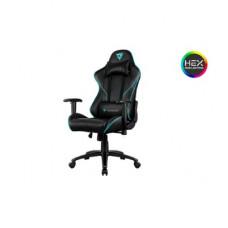 Кресло компьютерное ThunderX3 RC3-BC [black-cyan] с подсветкой 7 цветов