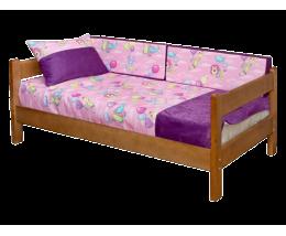 Молодежная Кровать  90x180 с ящиками  массив березы Детская