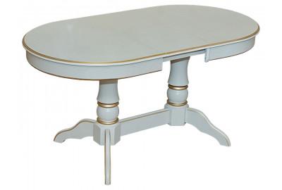 Обеденный стол Версаль Эмаль белая + патина золото