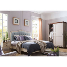 Кровать двуспальная Florence MK-5022-AW Молочный 200х160