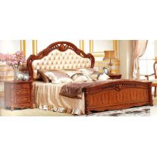 Кровать двуспальная Виолетта OYF-8929 MK-2901-BR Вишня 200х180