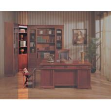 Шкаф книжный угловой Валенсия C05 MK-1736-CR Вишня