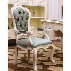 Кресло для кабинета Shantal MK-5099-WG Белый с золотом/Узор