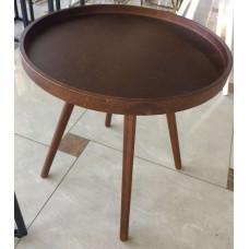 Cтолик кофейный круглый MK-2377 Темный орех