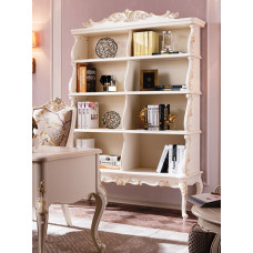 Шкаф книжный Shantal MK-5098-WG Белый с золотом