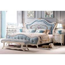 Кровать двуспальная Maris MK-5400-BO Беленый дуб 200х180
