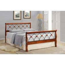 Кровать двуспальная Lika MK-5230-RO Темная вишня 200х160