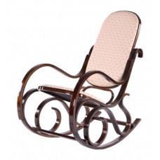 Кресло-качалка VT-C-20 MK-2303 Темный орех/Бежевый