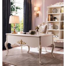 Стол письменный Shantal MK-5097-WG Белый с золотом