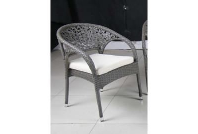 Кресло S90-1 MK-3618-GY Серо-бежевый/Белый