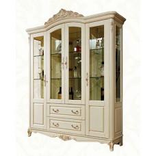Витрина 4-дверная Милано MK-1877-IV Слоновая кость