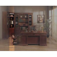 Шкаф книжный угловой Валенсия C05 MK-1736-DN Темный орех