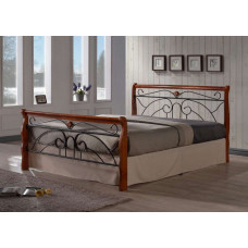 Кровать двуспальная Tina MK-5228-RO Темная вишня 200х160