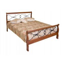 Кровать двуспальная 425-N MK-2121-RO Темная вишня 200х140