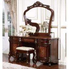 Туалетный столик Аманда FF6095 MK-2709-DN Темный орех с золотой патиной