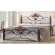 Кровать двуспальная FD 881 MK-1914-RO Темная вишня 200х140