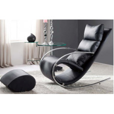Кресло-качалка c пуфом S001 MK-5503-BL Черный