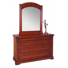Комод с зеркалом Валенсия С05 Вишня