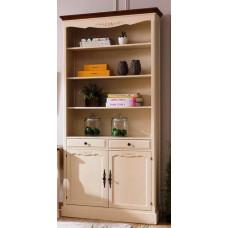 Шкаф книжный с двумя отделениями Florence MK-5063-AWB Молочный/Итальянский орех