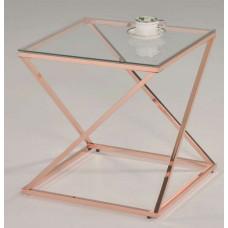 Cтолик кофейный квадратный MK-2379-RD Розовое золото