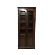 Шкаф книжный без карнизов Валенсия C05 (2 дв.) MK-1748-DN Темный орех