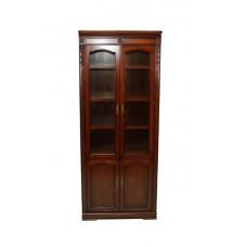 Шкаф книжный без карнизов Валенсия C05 (2 дв.) MK-1748-CR Вишня