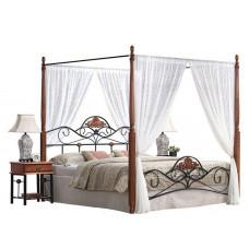 Кровать двуспальная с балдахином PS 8815 MK-1924-RO Темная вишня 200х160