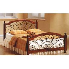 Кровать двуспальная FD 809 MK-2019-RO Темная вишня 200х160