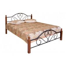 Кровать двуспальная FD 802 MK-1908-RO Темная вишня 200х140