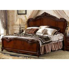 Кровать двуспальная София OYF-802-1 MK-2914-BR Вишня 200х180