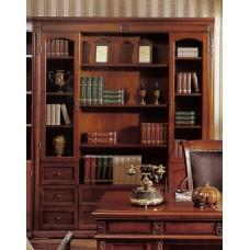 Шкаф книжный Валенсия C05 (4 дв.) MK-1754-DN Темный орех