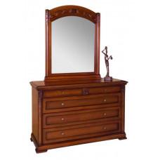 Комод с зеркалом Валенсия С05 MK-1739-DN Темный орех