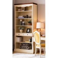 Шкаф книжный открытый Florence MK-5062-AWB Молочный/Итальянский орех
