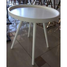 Cтолик кофейный круглый MK-2377-WT Белый