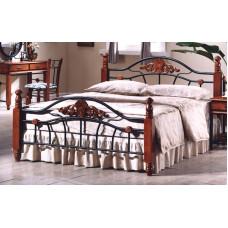 Кровать двуспальная PS 870 MK-1921-RO Темная вишня 200х140