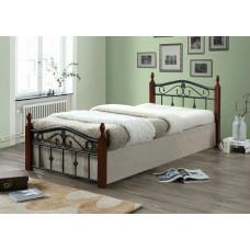Кровать двуспальная Mabel MK-5225-RO Темная вишня 200х160