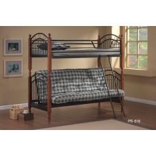 Кровать двухъярусная PS 618 MK-1918-RO Темная вишня
