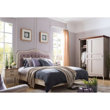 Кровать двуспальная Florence MK-5021-AW Молочный 200х160