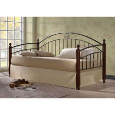 Кровать односпальная Doris MK-5235-RO Темная вишня 200х90