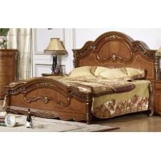 Кровать двуспальная Юлиана 3172 MK-3009-BR Темный орех 200х180