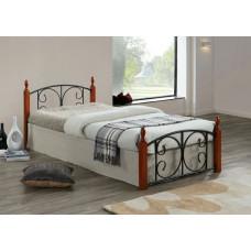 Кровать двуспальная Lara MK-5222-RO Темная вишня 200х160