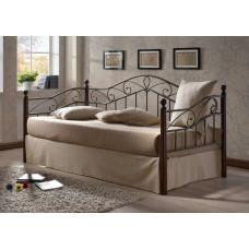 Кровать односпальная Melis MK-5234-RO Темная вишня 200х90