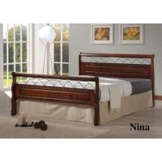 Кровать двуспальная Nina MK-5232-RO Темная вишня 200х160