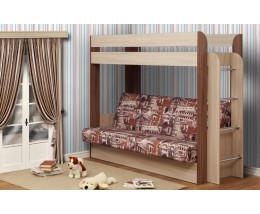 Кровать двухъярусная Немо Ясень Шимо светлый/темный/ Архитектура