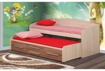 Кровать двухъярусная Адель - 5 Ясень Шимо темный / Ясень Шимо светлый