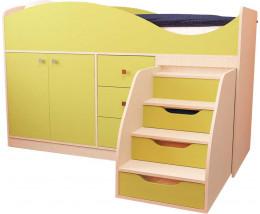 Кровать Стрелка с лесенкой