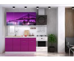 Кухня с фотопечатью Город